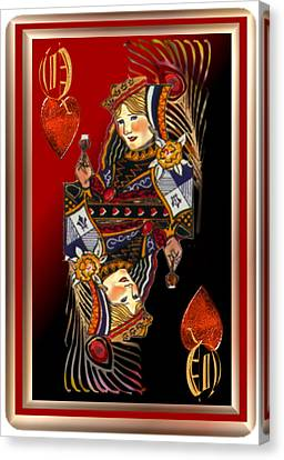 Queen Of Hearts Canvas Print by Pamela Mccabe