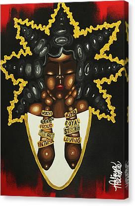 Queenisms Canvas Print by Aliya Michelle