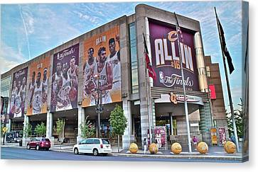Quicken Loan Arena Canvas Print by Frozen in Time Fine Art Photography