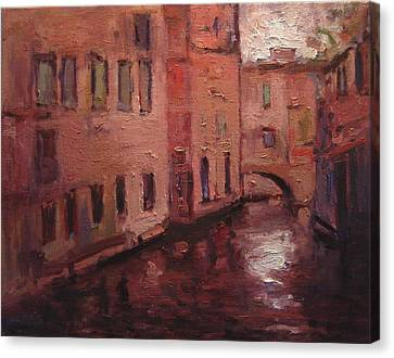 Quiet Canal In Venice IIi Canvas Print by R W Goetting
