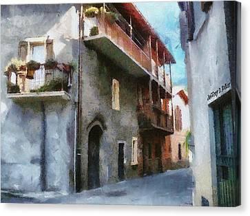 Quiet In Almenno San Salvatore Canvas Print by Jeff Kolker
