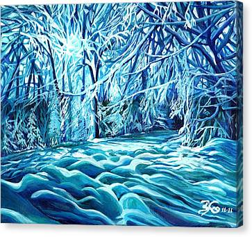 Quiet Of Winter Canvas Print by Suzanne King