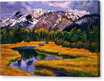 Quiet River Canvas Print by David Lloyd Glover