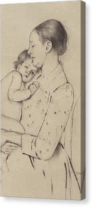Quietude Canvas Print by Mary Stevenson Cassatt