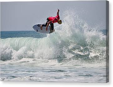 Canvas Print featuring the photograph Quiksilver Pro France II by Thierry Bouriat