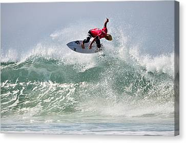 Canvas Print featuring the photograph Quiksilver Pro France Iv by Thierry Bouriat