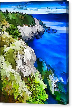 Quoddy Coast - Abstract Canvas Print by ABeautifulSky Photography