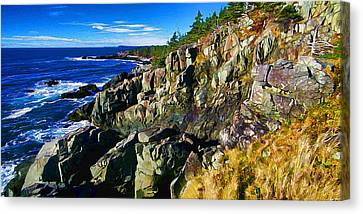 Quoddy Head Ledge Canvas Print by Bill Caldwell -        ABeautifulSky Photography