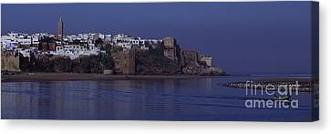 Rabat Kasbah Des Oudaias Bouregreg River Morocco Canvas Print by Antonio Martinho