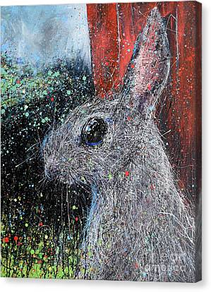 Rabbit And Barn Canvas Print by Michael Glass