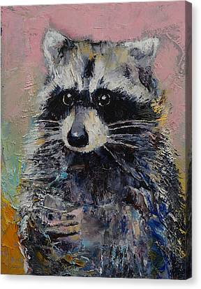 Raccoon Canvas Print by Michael Creese