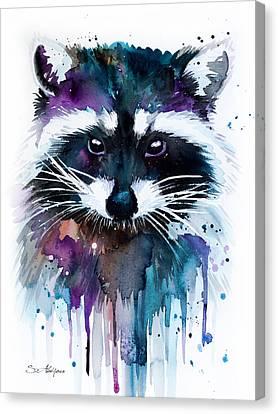 Raccoon Canvas Print by Slavi Aladjova