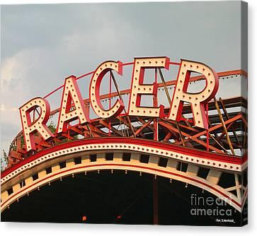 Racer Coaster Kennywood Park Canvas Print by Jim Zahniser