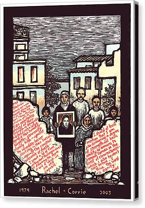 Rachel Corrie Canvas Print by Ricardo Levins Morales