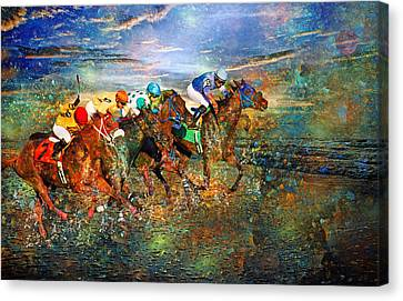 Racing Energy II Canvas Print by Betsy Knapp