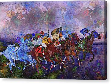 Racing With Ghosts Canvas Print by Betsy C Knapp