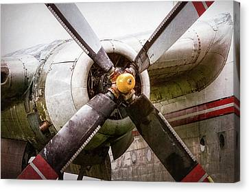 Radial Engine And Prop - Fairchild C-119 Flying Boxcar Canvas Print by Gary Heller