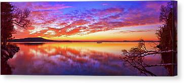 Radiant Dawn At Meddybemps Canvas Print by Bill Caldwell -        ABeautifulSky Photography