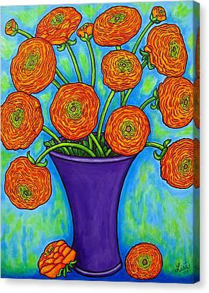 Radiant Ranunculus Canvas Print by Lisa  Lorenz