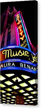Radio City Music Hall Canvas Print by Az Jackson