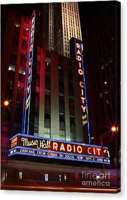 Radio City Music Hall Cirque Du Soleil Zarkana Canvas Print by Lee Dos Santos