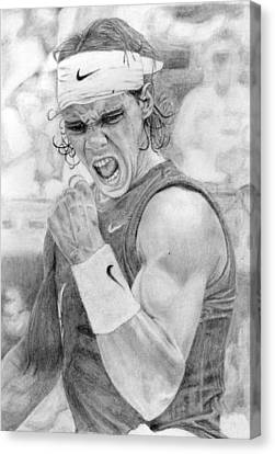 Rafael Nadal Canvas Print by Alexandra Riley