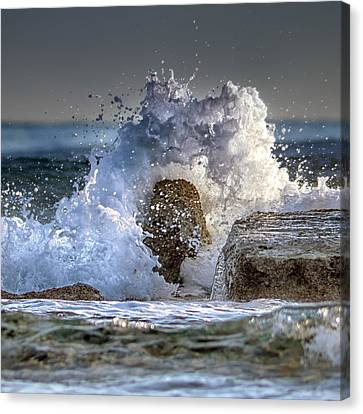 Rage Of The Sea Canvas Print by Stelios Kleanthous