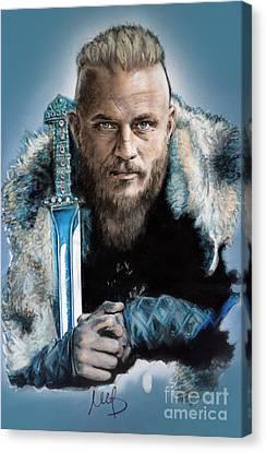 Ragnar Lothbrok Canvas Print by Melanie D