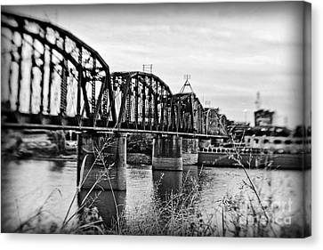 Railroad Bridge Canvas Print by Scott Pellegrin