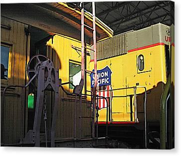 Railroad Museum 5 Canvas Print by Steve Ohlsen