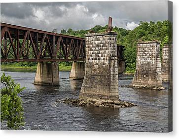 Railroad Trestle Canvas Print by Laurie Breton