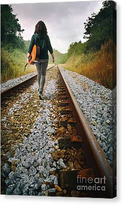 Railway Drifter Canvas Print by Carlos Caetano
