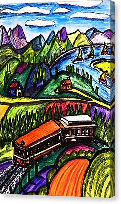 Railway Express Canvas Print by Monica Engeler