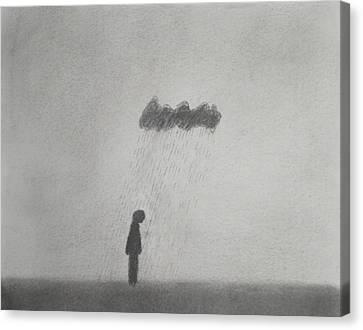 Rain Canvas Print by Keith Straley