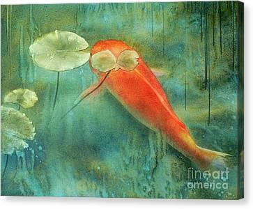 Rain Koi Canvas Print by Robert Hooper