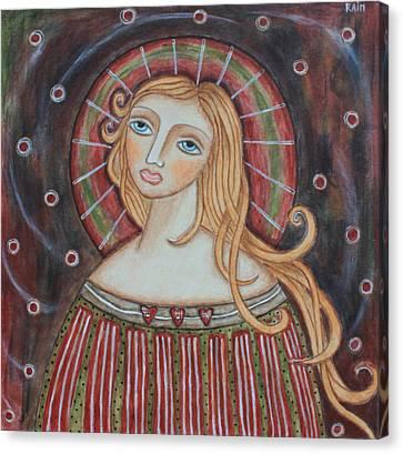Rainbow Angel Canvas Print by Rain Ririn