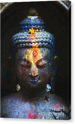 Rainbow Buddha Canvas Print by Tim Gainey