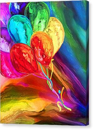 Rainbow Chaser Canvas Print by Carol Cavalaris