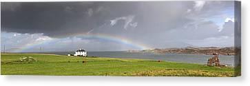 Rainbow, Island Of Iona, Scotland Canvas Print by John Short