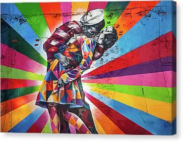 Rainbow Kiss Canvas Print by Az Jackson