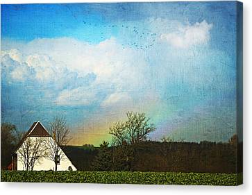 Rainbow Landscape Canvas Print by Heike Hultsch