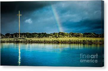 Rainbow Over Nombre De Dios Canvas Print by Jim DeLillo
