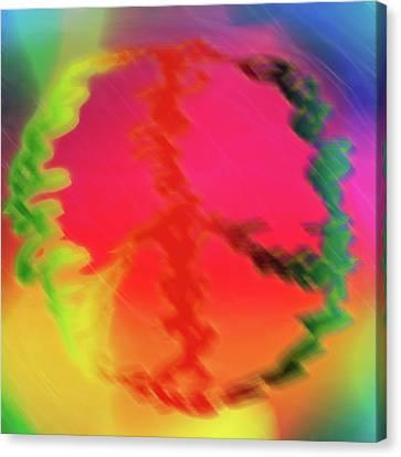 Rainbow Peace Canvas Print by Adam LeCroy