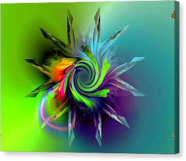 Rainbow Spiral Canvas Print by Claude McCoy