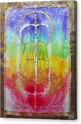 Rainbowbuddha Canvas Print by Joan Doyle