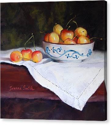 Rainier Cherries Canvas Print by Jeanne Rosier Smith