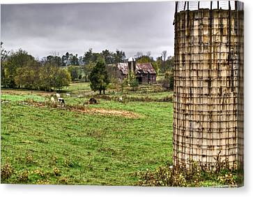 Rainy Day On The Farm Canvas Print by Douglas Barnett