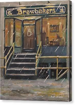 Rainy November Afternoon Coffee Canvas Print by Jack Skinner