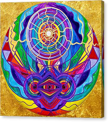 Raise Your Vibration Canvas Print by Teal Eye  Print Store