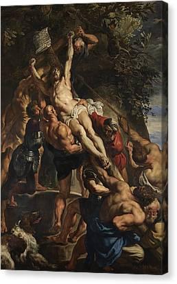 Raising Of The Cross Canvas Print by Peter Paul Rubens